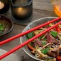 Our firm guest favourite : cold Thai beef salad with noodles