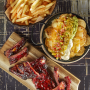 Ribs, nachos and chips. Build your own feast.