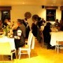Indoor dining at our garden to table dinner