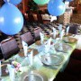 Blue & Green Birthday Table done on request