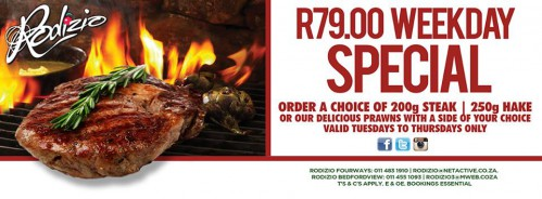 R79.00 Weekday Special!