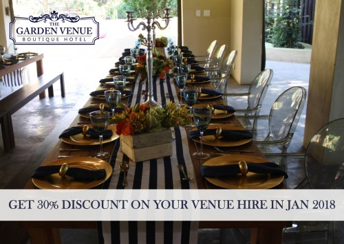 Get 30% Discount on your Venue hire in January 2018