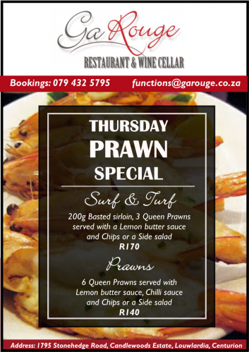 Thursday - Prawn Special