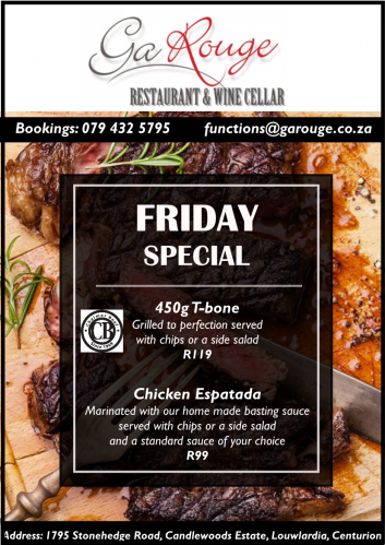 Friday  T-Bone / Espatada