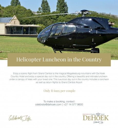 Helicopter Luncheon in the Country