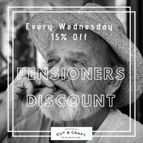 WEDNESDAY PENSIONER DISCOUNT