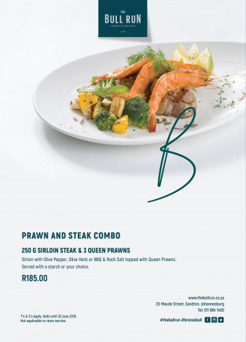 Prawn and Steak Combo