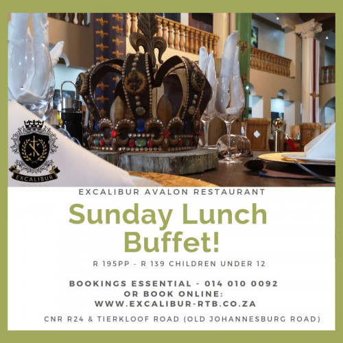 Sunday Lunch Buffet (Bookings Required)