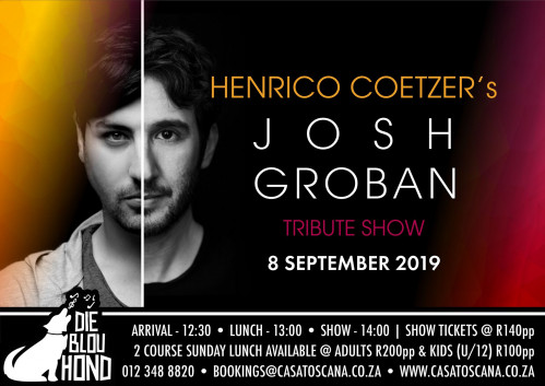Henrico Coetzer's Josh Groban Tribute - 8 September