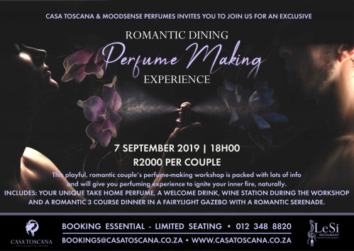 Romantic Dining - Perfume Making Experience