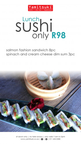 Sushi Lunch - Only R98