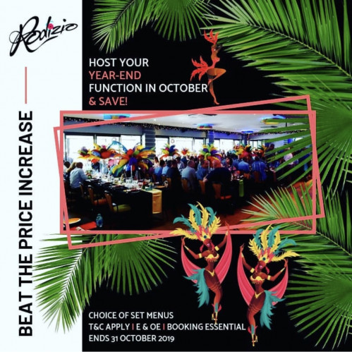 HOST YOUR YEAR-END FUNCTION IN OCTOBER & SAVE