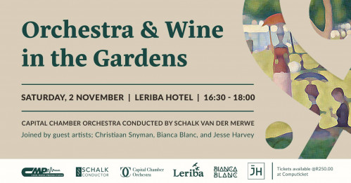 Orchestra and Wine in the Gardens at Leriba Hotel