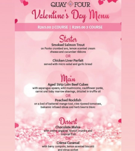 Valentine's Day at Upstairs Quay Four