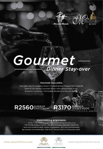 Gourmet Dinner Stay Over Package