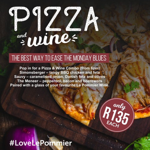 Pizza & Wine Special Monday