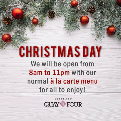 Christmas Day Upstairs at Quay Four