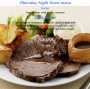 Thursday Night Roast Menu