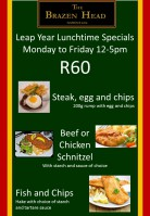 Leap year Lunchtime specials