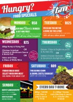 Hungry?  Food Specials every day of the Week!