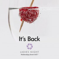 Ladies' Night every Wednesday evening from 6pm