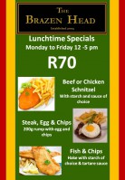 Lunchtime specials