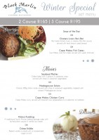 Winter Set Menu Special