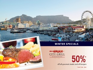 50% Off All Gourmet Steaks and All Burgers