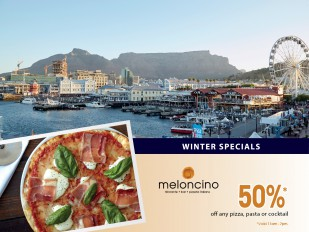 50% Off any Pizza, Pasta or Cocktail