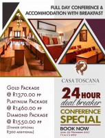 Casa Toscana Lodge 24 Hour Conference Package