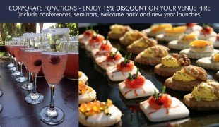 Corporate Functions - Enjoy 15% Discount on your Venue Hire!