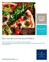 Friday Pizza Madness - Buy one get one Free