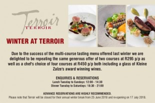 Winter at Terroir