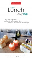 Sushi Lunch only R98