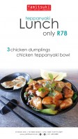 Teppanyaki Lunch Special - Only R78