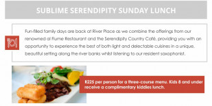 Sublime Sunday Lunch at Serendipity!