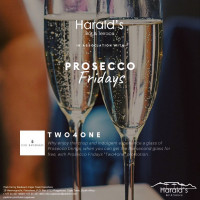 Prosecco Fridays at Harald's Bar & Terrace